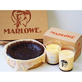 【ふるさと納税】マーロウ【逗子限定】カスタードプリン2個とバスクチーズケーキ 【お菓子・プリン・チーズケーキ】