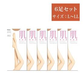 【ふるさと納税】ATSUGI 【肌】 6足セット ( サイズ:L〜LL )5826-0140