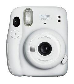 """【ふるさと納税】インスタントカメラ""""チェキ"""" instax mini 11(アイスホワイト)+専用フィルム1パック(10枚)付"""