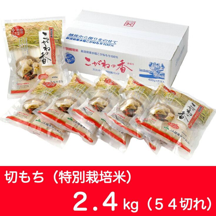 【ふるさと納税】1-038D1 新潟県長岡産こがねもち「切もち」2.4kg(特別栽培米) 54切れ