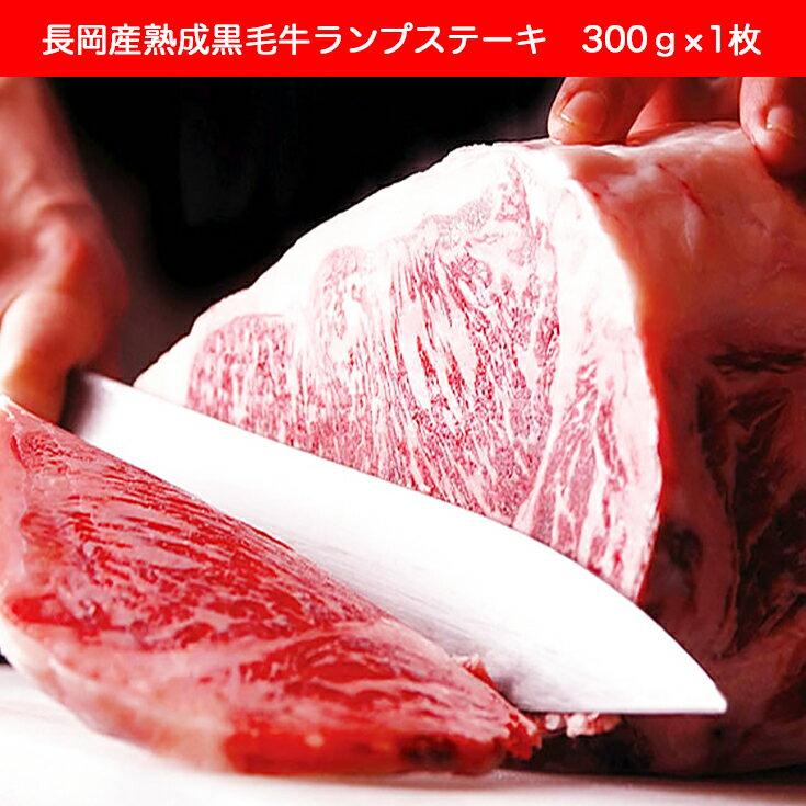 【ふるさと納税】1-222 長岡産熟成黒毛牛ランプステーキ