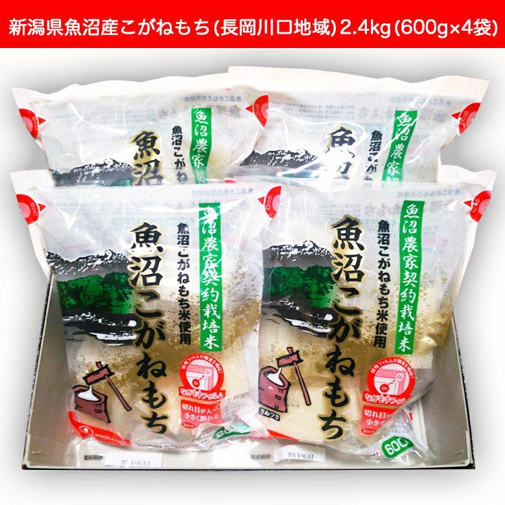 【ふるさと納税】1H-050 新潟県魚沼産こがねもち(長岡川口地域)2.4kg(600g×4袋)