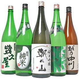 【ふるさと納税】日本酒 一升 飲み比べ 1.8L 新潟 C1-11越後銘門酒会 日本酒福袋(1800ml×5本)
