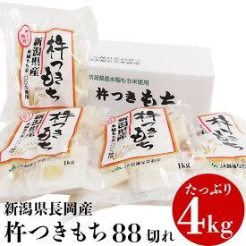 【ふるさと納税】75M-02【2月発送】新潟県長岡産杵つきもち4kg(88切れ)