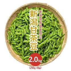 【ふるさと納税】75E-04新潟県長岡産枝豆2.0kg【新潟甘茶豆250g×8袋入り】
