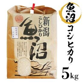 【ふるさと納税】米 5kg 白米 コシヒカリ 魚沼 B7-15新潟県魚沼産(長岡川口地域)コシヒカリ5kg