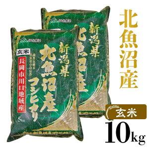 【ふるさと納税】G10-1【玄米】北魚沼産コシヒカリ10kg(長岡川口地域)