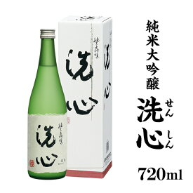 【ふるさと納税】 新潟 日本酒 A0-07洗心(せんしん)純米大吟醸720ml【朝日酒造】