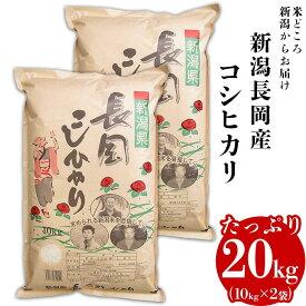 【ふるさと納税】2H-02【H30年産】新潟長岡産コシヒカリ20kg(10kg×2袋)