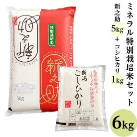 【ふるさと納税】B7-14ミネラル特別栽培米セット6kg(長岡産新之助5kg・長岡産コシヒカリ1kg)