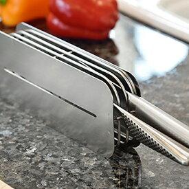 【ふるさと納税】【012P008】[ハナウタ] おしゃれなステンレス製キッチン用品 包丁スタンド シルバー