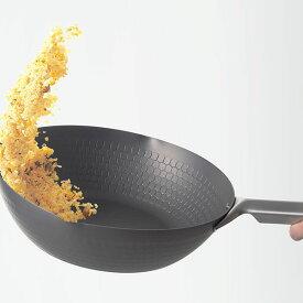 【ふるさと納税】【015P056】[eN] IH対応 中華炒め鍋(中華鍋) 28cm