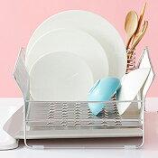 【ふるさと納税】【025P002】[ハナウタ]おしゃれなステンレス製キッチン用品水切りラック縦置シルバー