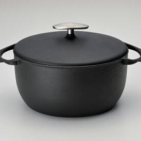 【ふるさと納税】[UNILLOY(ユニロイ)] キャセロール(ホーロー鍋) 22cm くろがね【085P004】