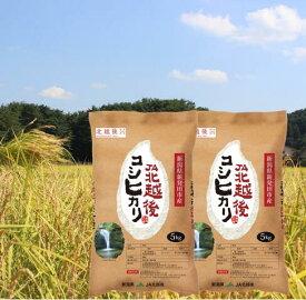 【ふるさと納税】D04【令和3年産米】JA北越後コシヒカリ5kg×2袋(特別栽培米)