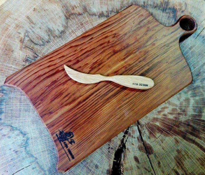 【ふるさと納税】森から作る、カッティングボード&バターナイフセット
