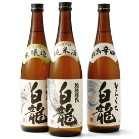 【ふるさと納税】白龍酒造 お勧め日本酒3本セット