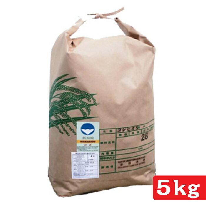 【ふるさと納税】30年産 新米 新潟県認証 特別栽培米 コシヒカリ 5kg