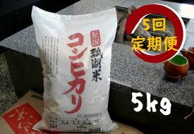 【ふるさと納税】新潟産 コシヒカリ 瓢湖米 5kg × 5回定期便