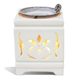 【ふるさと納税】多機能電子茶香炉【佐渡透かし彫り磁器】 【佐渡透かし彫り磁器】
