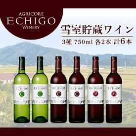 【ふるさと納税】雪室貯蔵ワイン6本セット