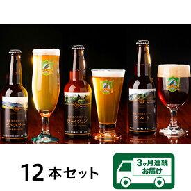 【ふるさと納税】0165 【3ヶ月連続お届け】胎内高原ビール 12本セット