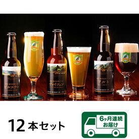 【ふるさと納税】0166 【6ヶ月連続お届け】胎内高原ビール 12本セット