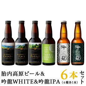 【ふるさと納税】S06-1胎内高原ビール6本飲み比べセット(6種各1本)