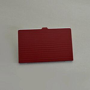 【ふるさと納税】カードケース「KABUKI RED」 名刺入れ レディース メンズ アルミ おしゃれ 日本製 宮越工芸 【文房具・雑貨】