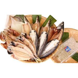 【ふるさと納税】氷見 堀与 地魚一夜干6種と白えび刺身 【アジ・魚貝類・干物・鯖・サバ】