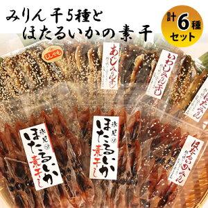 【ふるさと納税】氷見 堀与氷見名産 みりん干5種とほたるいかの素干セット 【アジ・イワシ・魚貝類・干物・ししゃも・シシャモ】