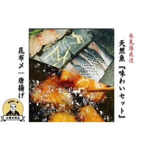 【ふるさと納税】氷見直送天然魚『味わいセット(昆布締め/唐揚げ)』 【魚貝類・加工食品・たい・いか・こはだ・ふぐ】