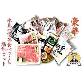 【ふるさと納税】【豪華】氷見の全部食べつくし堪能セット 【お肉・牛肉・すき焼き・バーベキュー・麺類・うどん・乾麺】