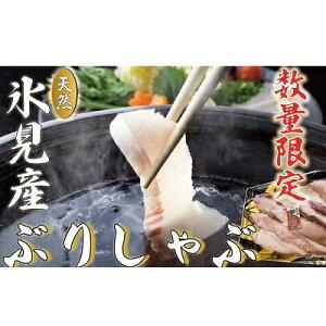 【ふるさと納税】氷見天然ブリしゃぶしゃぶ用220g 【魚貝類・加工食品・魚介類・しゃぶしゃぶ】