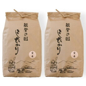 【ふるさと納税】石川県七尾産コシヒカリ「能登の国」玄米9kg(4.5kg×2袋)※令和2年10月より順次発送