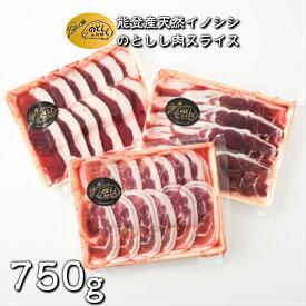 【ふるさと納税】[B010] のとしし(イノシシ)肉スライス 750g