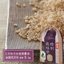 【ふるさと納税】「新米」加賀百万石特別栽培米コシヒカリ玄米5kg 【お米・精米・こしひかり】
