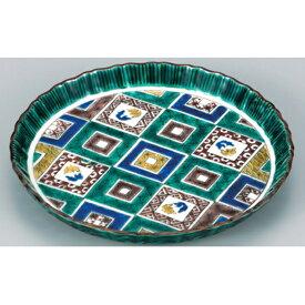 【ふるさと納税】九谷焼6.5号盛皿 石畳の図 【焼き物・民芸品・工芸品・食器・皿】