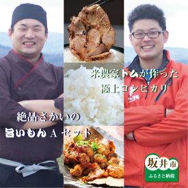 【ふるさと納税】定期便 米 肉 極上 福井県産 コシヒカリと絶品さかいの旨いもんAセット