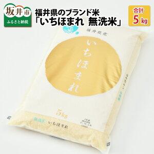 【ふるさと納税】米 5kg 福井県のブランド米 いちほまれ5kg 無洗米