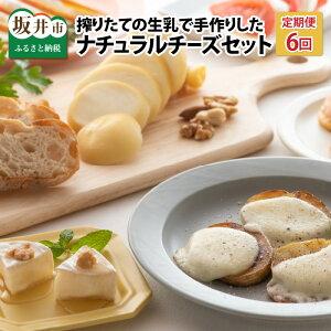【ふるさと納税】【6ヶ月連続お届け】搾りたての生乳で手作りした、ナチュラルチーズ 3種詰め合わせ / ちーず 熟成 ミルク おつまみ