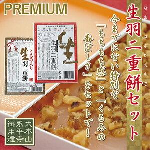 【ふるさと納税】ミニ生羽二重餅 2種セット(しろ・くるみ入り) 【スイーツ・お菓子・和菓子】