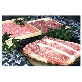 【ふるさと納税】若狭牛 プレミアムセット( サーロインステーキ用 モモ焼肉用 ローススライス ) 【牛肉・サーロイン・お肉・ロース】