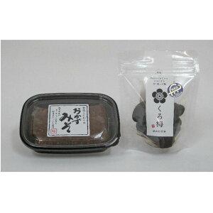 【ふるさと納税】若狭の発酵食Aセット(おかずみそ、とてもすっぱい「くろ梅」) 【味噌・みそ・加工食品・うめ・ウメ・梅・詰め合わせ】