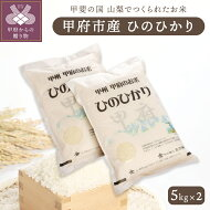 【ふるさと納税】米白米ご飯山梨県甲府市産「ひのひかり」5kg×2送料無料