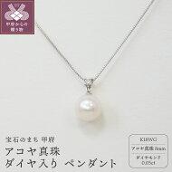 【ふるさと納税】ペンダントアコヤ真珠真珠18金ホワイトゴールドダイヤモンド0.05ctケース付カジュアル送料無料
