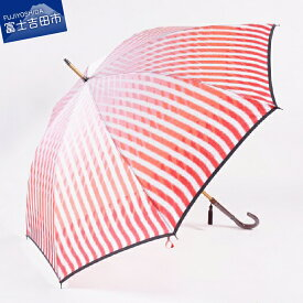 【ふるさと納税】高級雨傘【赤富士と水】