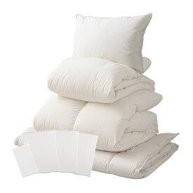 【ふるさと納税】【甲州羽毛ふとん】ベッド用寝具シングル8点パーフェクトセット 送料無料
