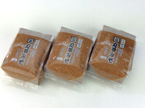 【ふるさと納税】 丸甲醸造 田舎味噌 3kg詰