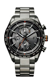 【ふるさと納税】 シチズン 時計 腕時計 電波時計 10気圧 防水 アテッサ AT8185-62E エコドライブ ブラックチタン メンズ プレゼント ギフト CITIZEN ビジネス ファッション